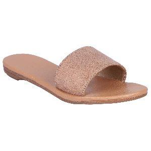 Ladies Beige Flat Sandals