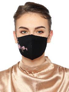 Ladies Black Face Mask