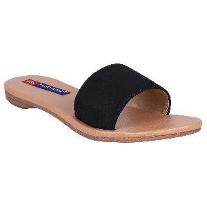 Ladies Black Flat Sandals