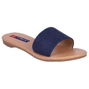 Ladies Blue Flat Sandals
