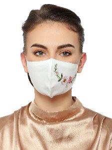 Ladies White Face Mask