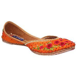 Orange Punjabi Jutti