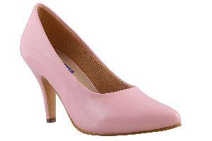 Pink Round Toe Heels
