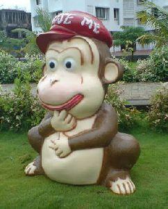 FRP Monkey Shaped Dustbin