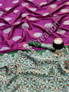 Banarasi Lichi Silk Casual Saree