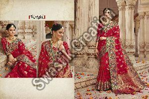 Heavy Embroidered Bridal Saree
