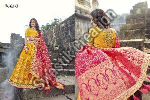 Heavy Khatli Work Bridal Lehenga