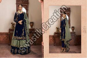 Party Wear Semi Stitched Suit