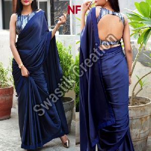 Plain Bollywood Saree
