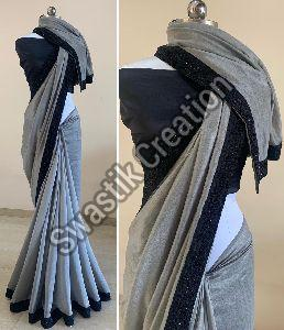 Rudra Grey Bollywood Saree