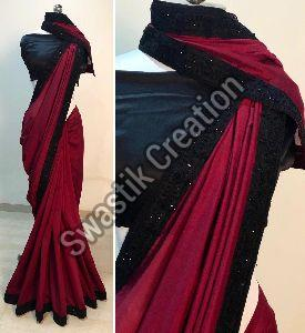 Rudra Maroon Bollywood Saree