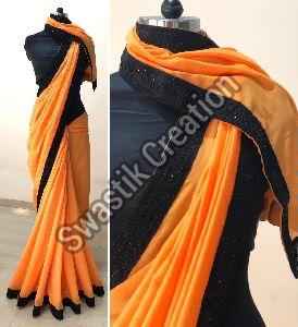 Rudra Orange Bollywood Saree