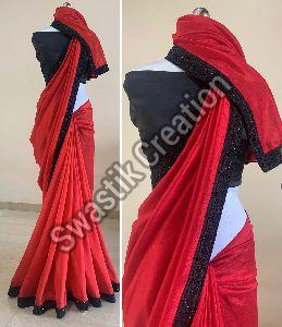 Rudra Red Bollywood Saree