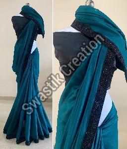 Rudra Teal Bollywood Saree