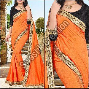 Shivani Orange Bollywood Saree