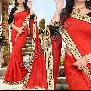 Shivani Red Bollywood Saree