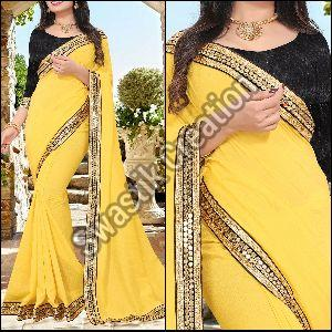 Shivani Yellow Bollywood Saree