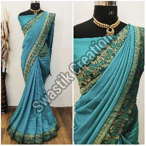 Shyam Blue Bollywood Saree
