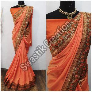 Shyam Orange Bollywood Saree