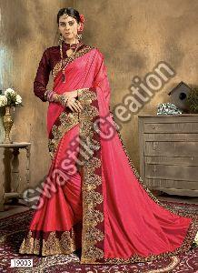 Swara Peach Bollywood Saree