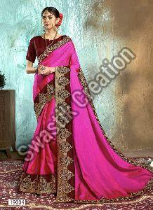 Swara Pink Bollywood Saree