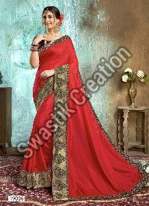 Swara Red Bollywood Saree