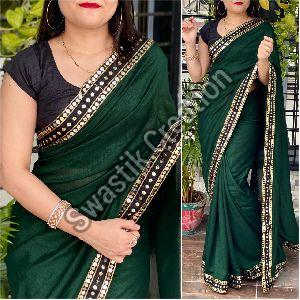 Vichitra Green Bollywood Saree