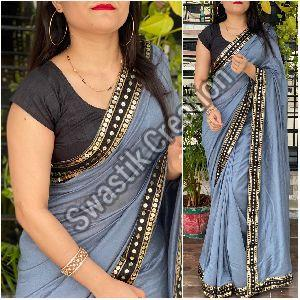 Vichitra Grey Bollywood Saree