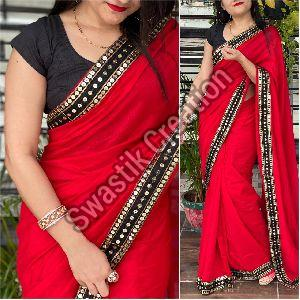 Vichitra Red Bollywood Saree