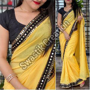 Vichitra Yellow Bollywood Saree