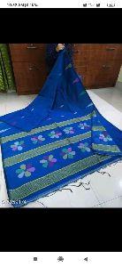 Handloom cotton silk saree with blouse