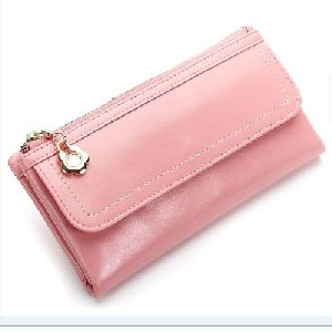 Ladies Pink Leather Purse