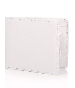 Mens White Leather Wallet