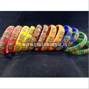 Daily Wear Print Glass Bangles