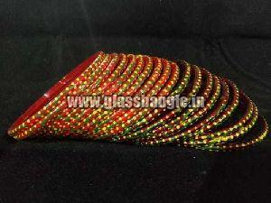Dots Print Glass Bangles
