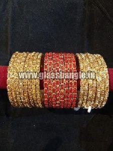 Golden Stone Glass Bangle