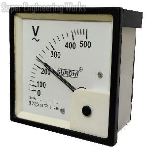 Analogue Voltmeter and Ammeter AC with movement 90