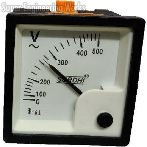 Analogue Voltmeter and Ammeter AC with Movement 90° (72 Sq.mm, New Series)
