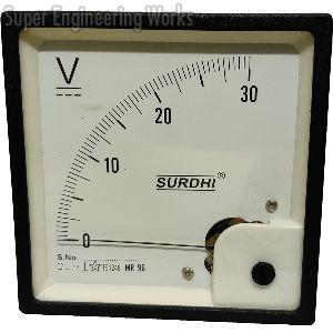 Analogue Voltmeter and Ammeter DC with Movement 90