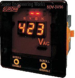 Three Phase Digital Voltmeter