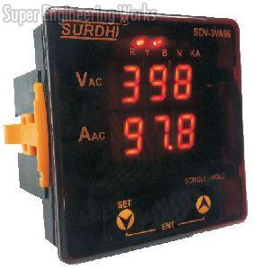 Three Phase Volt-Amp Digital Meter