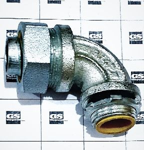 FLEXIBLE CONDUIT CONNECTOR 90 DEGREES - LIQUID TIGHT