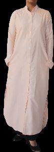 Plain Crepe Kaftan Abaya with Pearl Embellishments On Shoulder