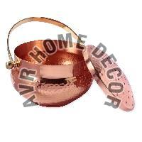 Copper Fumer With Brass Handle