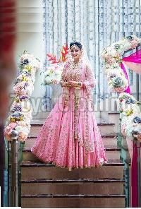 Bhagalpuri Khadi Machine Work Bridal Lehenga Choli