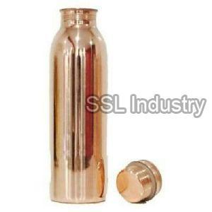 Round Copper Water Bottle