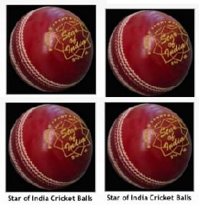 Star Of India Red Leather Cricket Ball