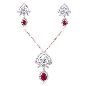 Cocktail Diamond Pendant Set