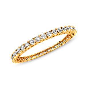 Round Diamond Bangles