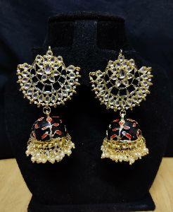 Meenakari Jhumki Earrings